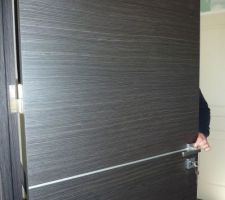 Installation des portes: pose fin de chantier