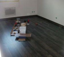 19 avril : parquet chambre étage