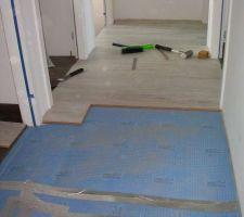 22 avril : parquet couloir étage