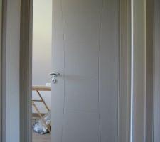 Portes étage après peinture