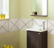 Modèle du lave-main choisi chez Sanijura pour le WC 2 mais il sera noir laqué et la vasque blanche