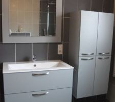 3 mai 2013 - Pose des meubles de la salle de bains terminée