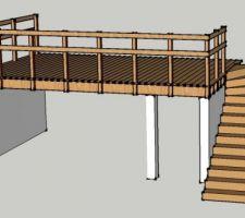 essai de terrasse en hauteur