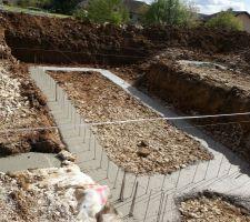 Les fondations ont été coulées ce matin, demain mise en place du coffrage !