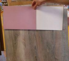 Choix Parquet et teintes murales pour la chambre de la miss. Les plinthes seront blanches.