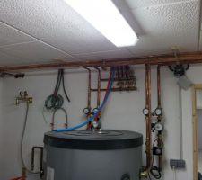 PAC   branchements radiateurs et plancher chauffant