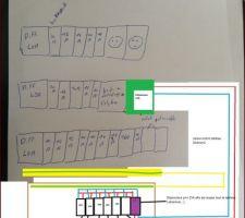 Schema previsionel de cablage du tableau exterieur