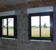 Fenêtres coulissantes de la cuisine