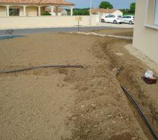 installation des tuyaux d irrigation