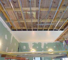plafond de la piscine en cours lames de pvc 19 05 2013