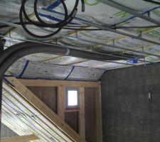 J'ai prévu une reprise d'air (sec et chaud) en haut de la mezzanine du séjour.