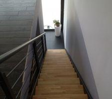 Escalier vue d'en haut.