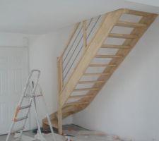 Escalier lasuré