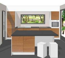 Autre idée d'aménagement de la cuisine...