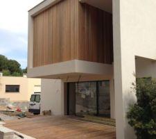terrasse nord et bardage bois red cedar