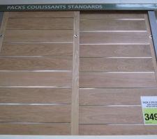 Idée de portes coulissantes pour le placard de l'entrée.
