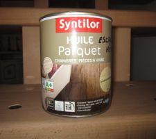 escalier teinte avec huile de parquet syntilor incolore ultra mat