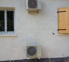 Les deux blocs clim et chauffe-eau thermodynamique