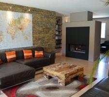 grand salon et cheminee luna gold m design