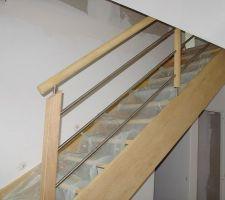 Escalier brut (vitrification plus tard)