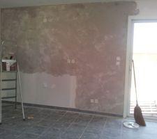 Mur a effet 1ere couche
