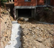 fondations de la descente de garage