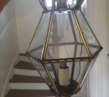 suspension lanterne de 1907 en laiton