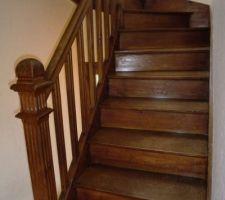 escalier a poncer et repeindre