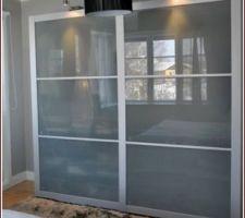 Type de portes coulissantes achetées pour la chambre de mon fils, le bureau et le cellier, PAX LYNDGAL mais en 200*200.
