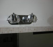 eclairage du miroir salle de bain