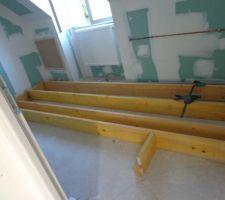 sur elevation du plancher de la salle de bain pour faire la douche a l italienne