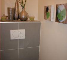 Photos et id es wc mur peinture 606 photos for Peinture toilettes zen