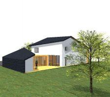 une terrasse dans la maison sls p