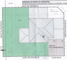l implantation de la maison sur le terrain le sud est a gauche