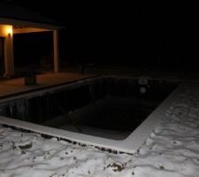 Avant pose liner et sous la neige