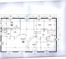 Voici le plan définitif de notre maison plain pied