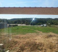 vue du salon sur le jardin cote sud