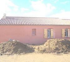 construction de notre maison 3 faces plain pieds a beziers