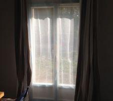 les rideaux sont poses