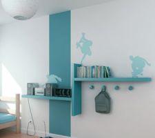 style etagere chambre du petit etagere gris et bande de peinture gris anthracite sans stickers