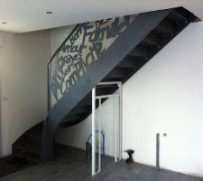 L'escalier tant attendu...