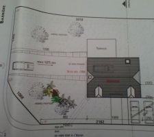 plan de la maison sur son terrain