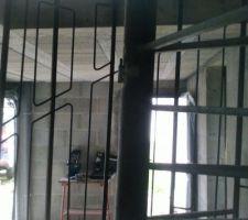 Essai de l'escalier du garage vers l'étage