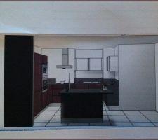 notre futur cuisine by ixina l ilot n est pas noir mais ultra blanc ultra brillant comme les meubles hauts