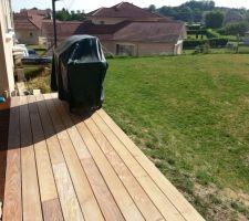 la terrasse avant de partir en vacances structure en acier lambourdes exotique ipe