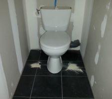 Carrelage sol wc du haut exclusif point p pluton noir