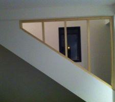 Garde corp bois en 4 vantaux