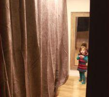Dressing terminé avec les rideaux