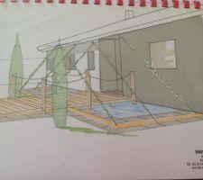 (dessin non choisi) porche de l'entrée