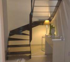 vue sur escalier il y manque encore les leds